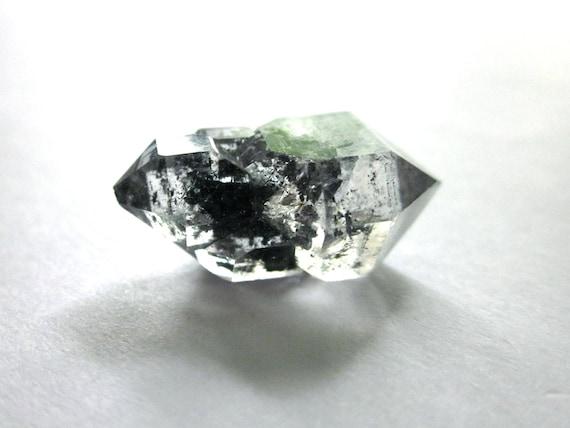 Herkimer Diamond Style Tibetan Quartz Double Terminated Black Phantom 20mm (Lot No. 434)