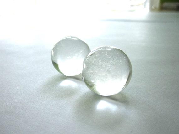 Quartz Crystal Balls Marbles Spheres Orbs - 2 Stones (Lot no. 445)