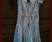Sale Adorable Pink Prairie Dress-Med-