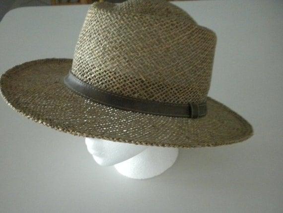 Men's Straw Hat  Stylish c.1980  XL Sima International Perfect Summertime Hat