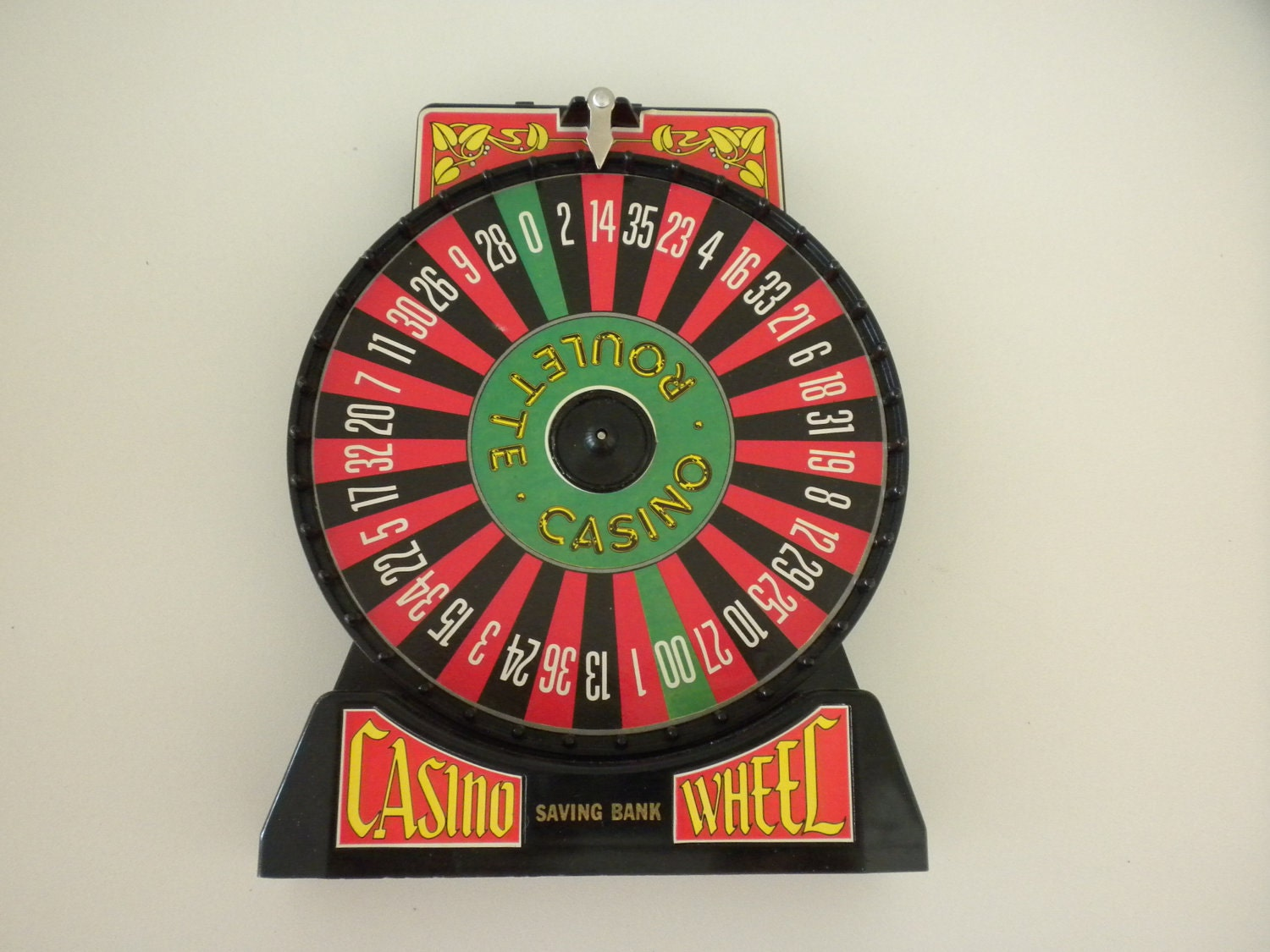 vintage casino saving bank roulette wheel game. Black Bedroom Furniture Sets. Home Design Ideas
