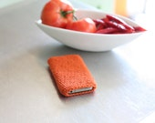 iPhone iPod iTouch cover, sleeve or case - TANGERINE orange - pantone spring 2012 color