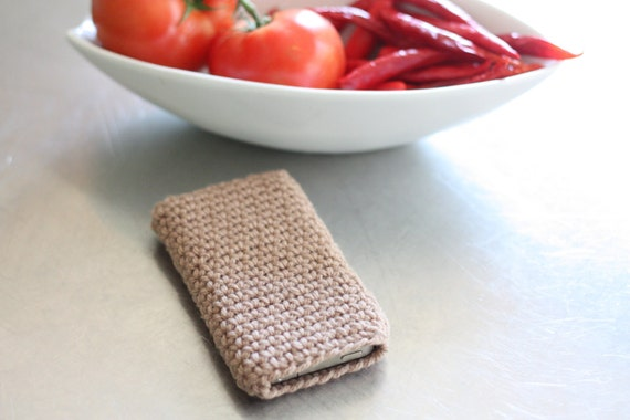 iPhone iPod iTouch cover, sleeve or case - BUFF brown tan beige