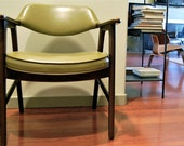 Mid-Century Modern Arm Side Chair - Groovy Avocado Green - by Paoli of Indiana - Lot of 6