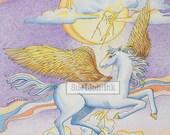 Pegasus Thunder - A7 Card - Magic & Myth