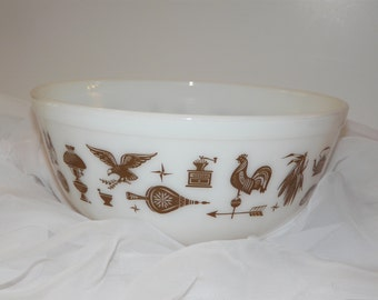 Pyrex Mixing Bowl Early American Decor