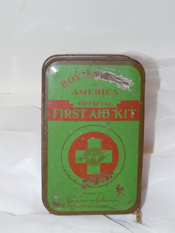 Boy Scout First Aid Kit Tin