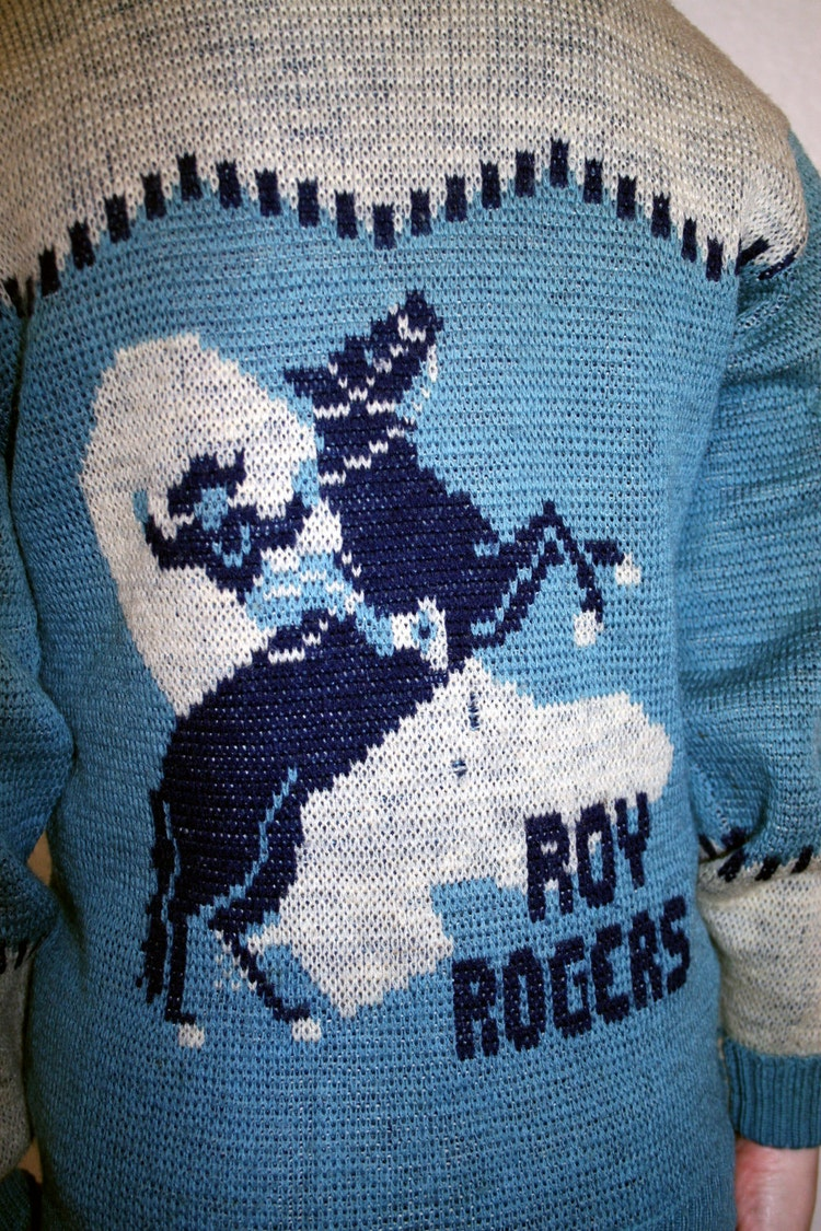 1950s Roy Rogers Boys Sweater Cardigan By Mkretro On Etsy