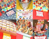 Carnival Birthday Party Signs Circus Birthday Party Signs PDF (96 Small Table Signs Food Signs, plus EDITABLE blank signs) 2 Size Sm and Med
