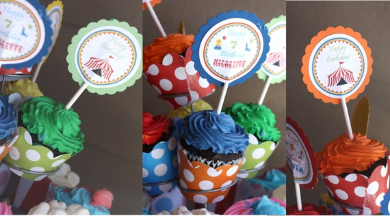 Cupcake Toppers Custom Any Theme (digital File) DIY Printable Cupcake Toppers Birthday Party Decorations