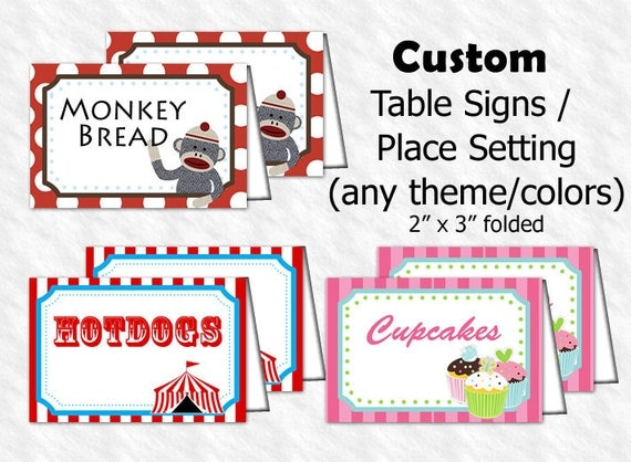 items similar to table signs food signs place card