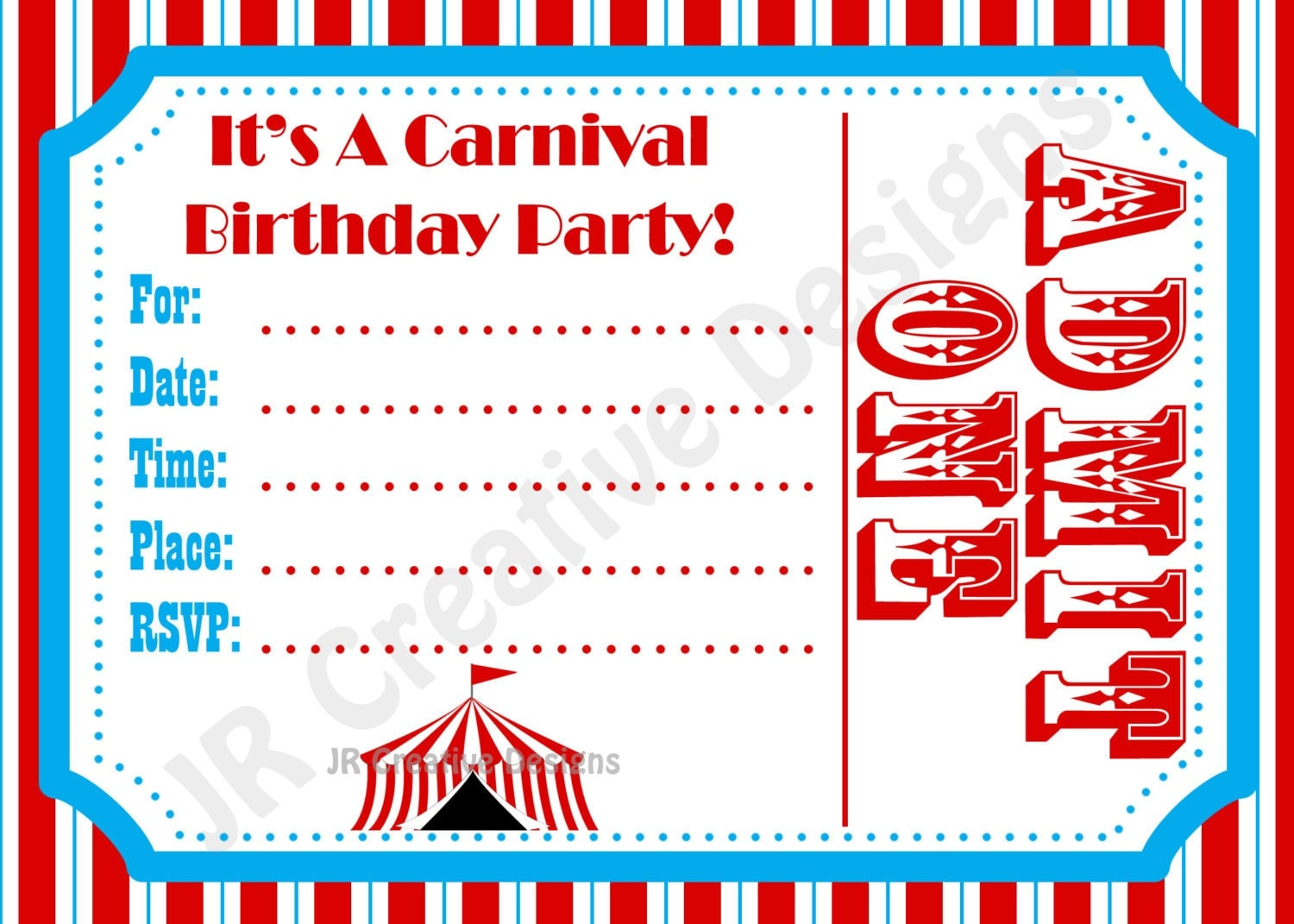 Carnival Invite Circus Invite Circus By Jrcreativedesigns