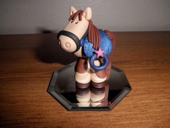 Horse with Saddle Cake Topper and Keepsake