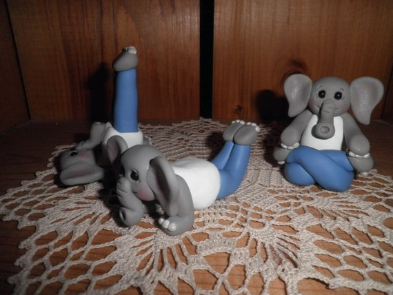 Polymer Clay Yoga Elephants (Special Order) -RESERVED FOR covalentbonds