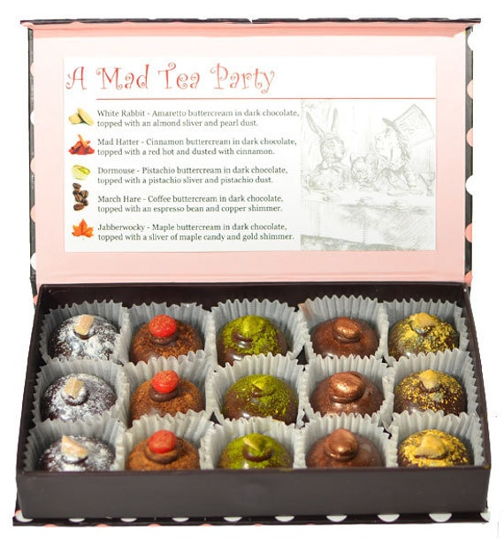 A Mad Tea Party Chocolate Box - Pink
