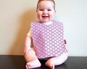 Baby girl bib minky Bib lilac purple