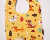 puppy Baby bib orange Minky summer children