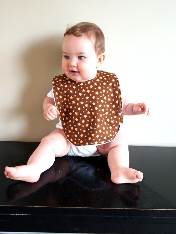 baby bib stars brown etsy children