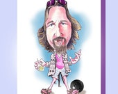 Funny Fathers Day Card Funny The Dude The Big Lebowski Caricature