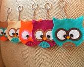 Pick One - Felt Owl Keychain