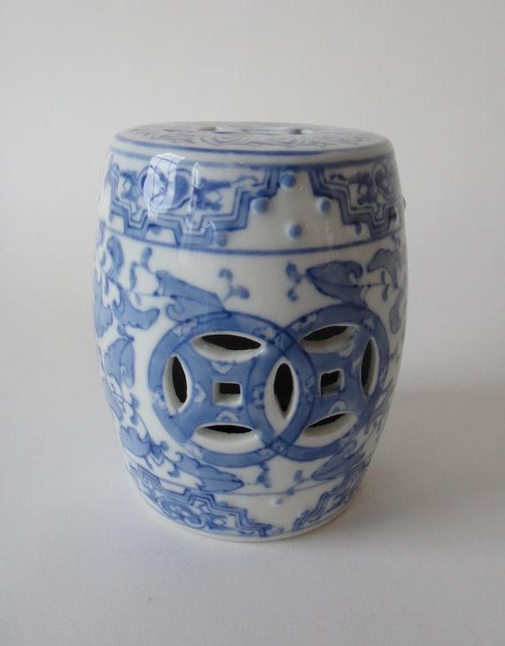 Vintage Chinese Asian Ceramic Mini Garden Seat Stool