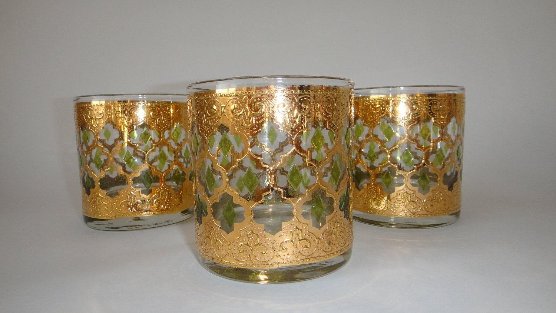 Vintage mid century culver valencia glasses - Vintage valencia ...