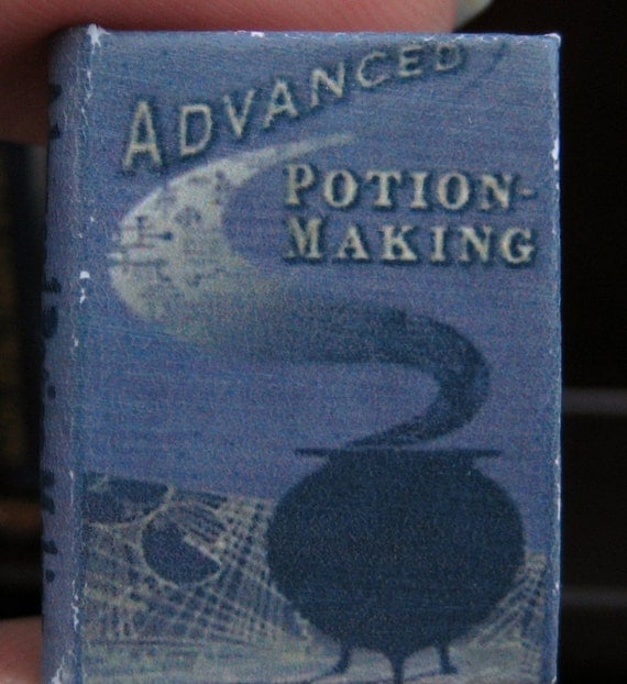 Advanced Potion Making textbook from the wizarding world in dollhouse miniature (1/12 scale)