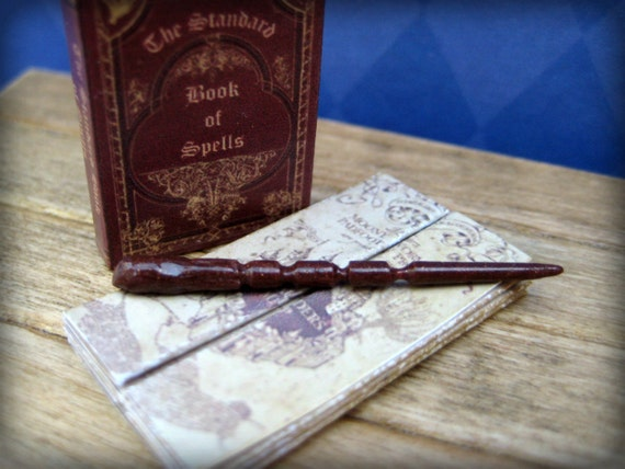 Sorceror's Miniature Magical Wand, handmade from polymer clay