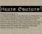 Items similar to grunge haute couture fashion definition for Couture clothing definition