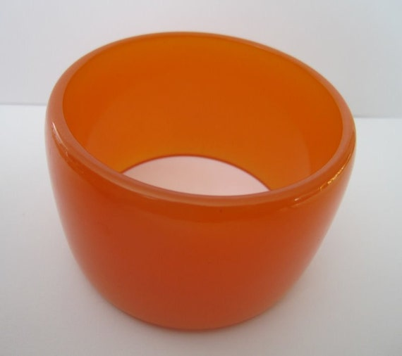 HUGE Bakelite Pumpkin Bangle Bracelet