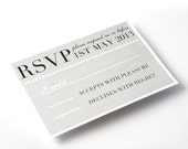 Classic RSVP Cards - Elegant Grey