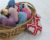 Soft Bird Toy - Upcycled Fabric Baby Toy