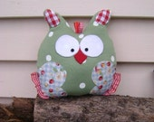 Private listing for Julie Soft Toy Owl and Pacifier Bib