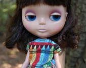 "12"" Neo Blythe crayon shirt and shorts"