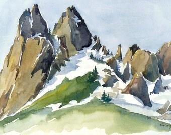 Cosmic Wall - luxury print of Granite Rock Mountain Landscape