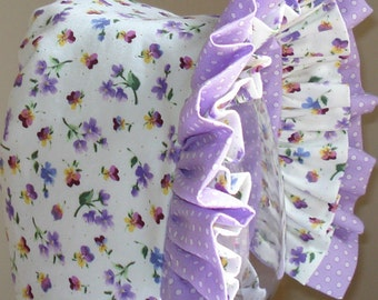 Baby Bonnet- Spring Garden- Baby Hat- Reversible