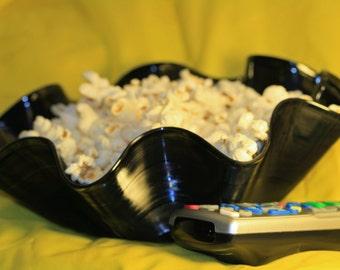 Vinyl record Bowls SET. Popcorn Candy gift basket. SALE. Music movie pop culture lover. Media room. Youth teens fun Wedding LP 45s retro