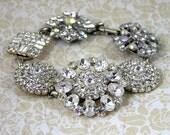 Swarovski Crystal 6 Button Bracelet