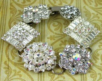 Swarovski Crystal 6 Button Bracelet