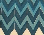 Blue Pattern - Letterpress Postcard