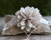 rustic burlap ring bearer PiLLoW, small country chic ring pillow, ceremony pillow barn wedding