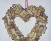 Heart Wine Cork Wreath