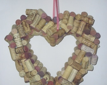 Heart Wine Cork Wreath