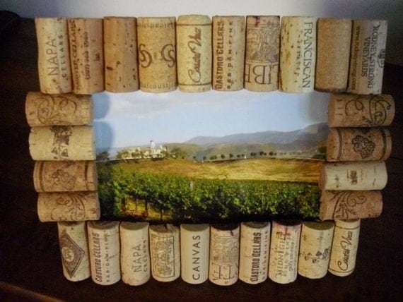 4x6 Wine Cork Picture Frame by WineCountryCrafters on Etsy