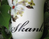 "COFFEE CUP - Porcelain ""Skank"" with Magnolia flowers"