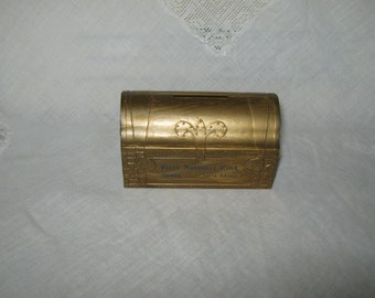 Treasure chest advertising bank