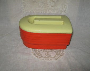 Art Deco covered refrigerator dish Westinghouse for Hall China