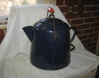 Graniteware coffee pot