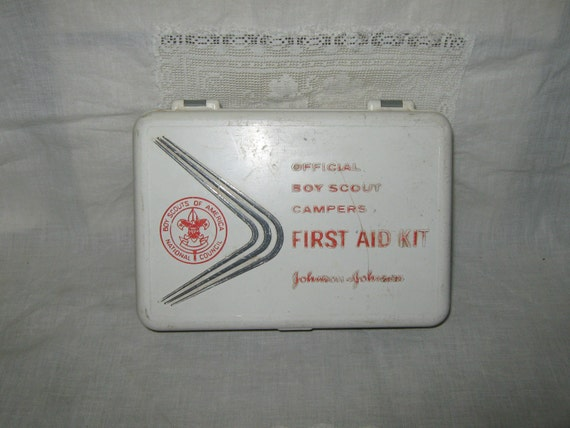 Boy Scout first aid kit 1960's by Johnson & Johnson