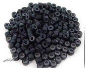 20 black Silicone Microbeads Micro Beads Microlinks Hair Feather Extensions beads